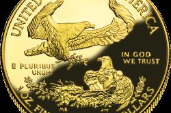 Аверс золотой монеты США 2006 года