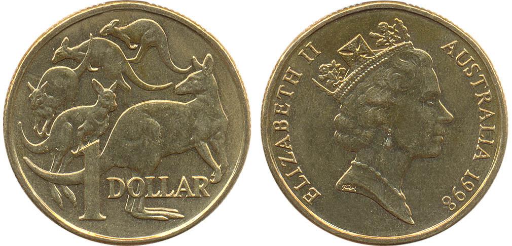 Денежная единица номиналом 1 австралийский доллар