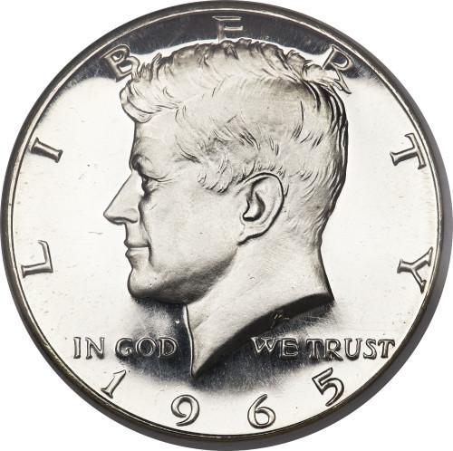 Полдолларовая монета с изображением Джона Кеннеди