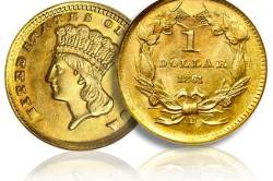 Золотой доллар1861 года
