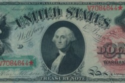 Рисунок 2. Первая купюра номиналом 1 доллар