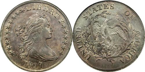 Серебряный доллар США 1797