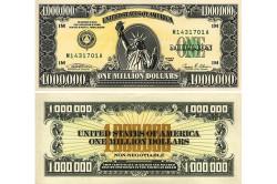 Купюра одного миллиона долларов