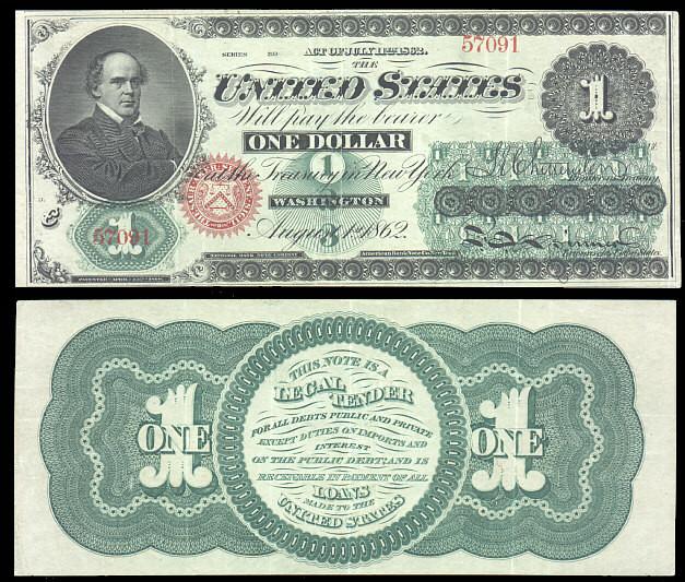 Первая однодолларовая банкнота