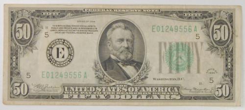 Банкнота 50 долларов