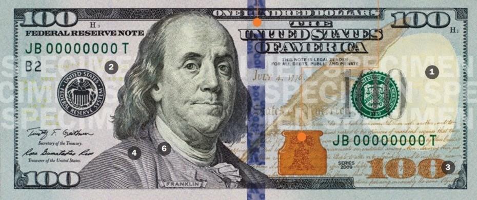 Банкнота номиналом в сто долларов