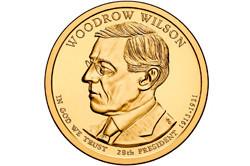 1 долларовая монета в честь Вудро Вильсона