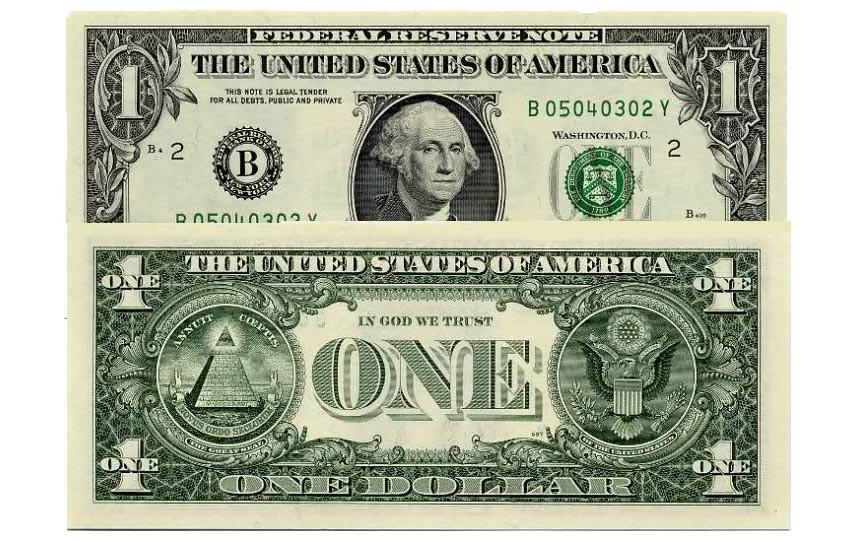 Доллар с американской пирамидой