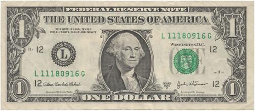 Долларовая купюра