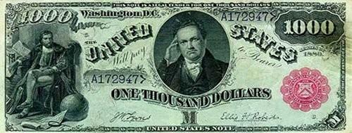 Первая долларовая  банкнота 1862 года