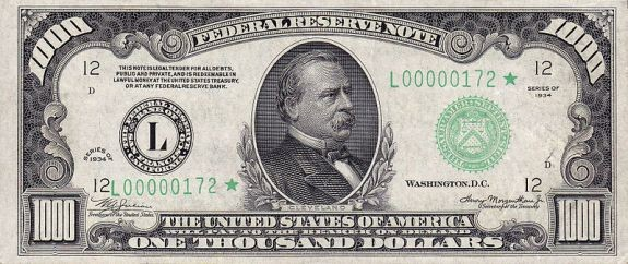 Банкнота 1000 долларов сша цена монеты арктикуголь 1946