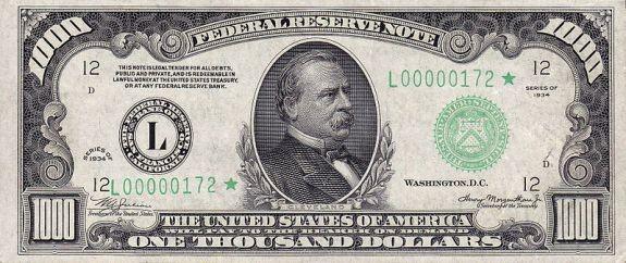 1000 долларов США