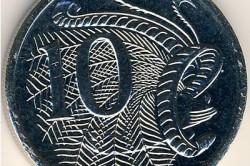 Австралийская монета 10 центов