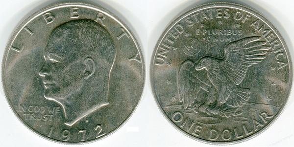 Монета Эйзенхауэра 1 доллар