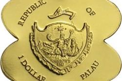 Необычные монета 1 австралийский доллар