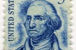 Дж. Вашингтон на почтовой марке США