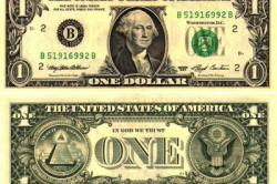 Бумажный доллар.