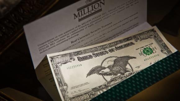 Купюра в миллион долларов