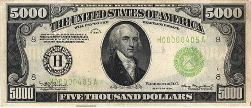 Банкнота США.