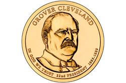 1 долларовая монета в честь Кливленда Гровера