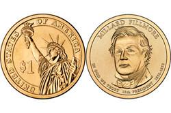 1 долларовая монета в честь Милларда Филлмора