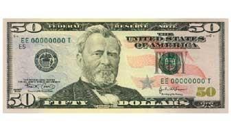 Банкнота 50 долларов 2004 года