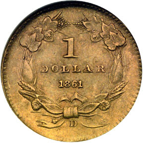 Доллар 1861 года