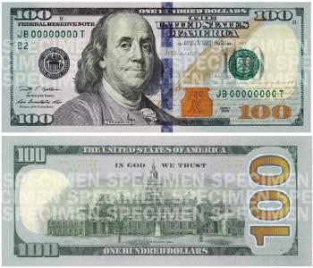 100 долларов 2009 года