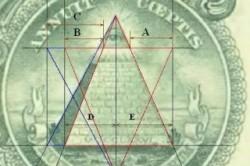 Масонский знак всевидящего ока на долларах