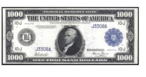 Купюра 1000 долларов