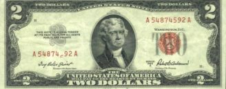 2 доллара, или two dollar USA
